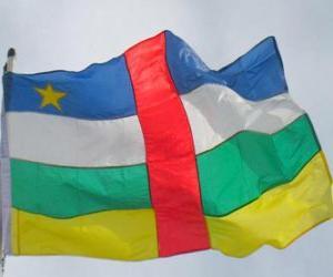 Flagge der Zentralafrikanischen Republik puzzle