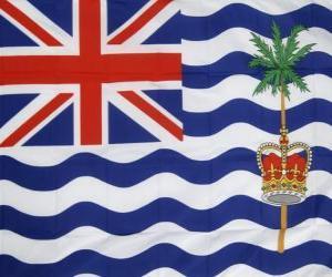 Flagge des Britische Territorium im Indischen Ozean puzzle