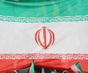 Flagge des Iran puzzle