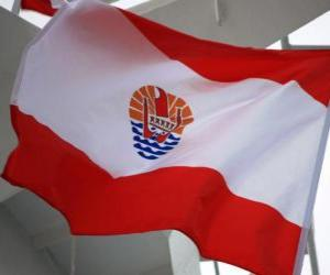 Flagge Französisch-Polynesiens puzzle