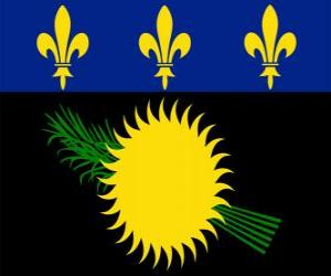 Flagge Guadeloupe puzzle