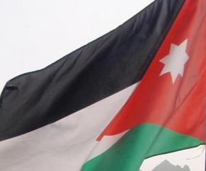 Flagge Jordanien puzzle