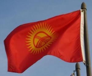 Flagge Kirgisistans puzzle