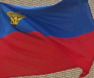 Flagge Liechtensteins puzzle