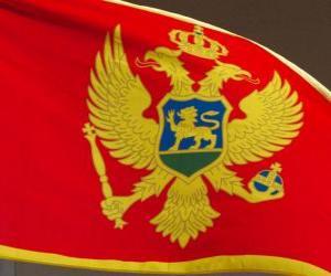 Flagge Montenegros puzzle