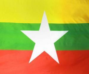 Flagge Myanmars puzzle