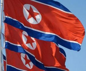 Flagge Nordkorea puzzle