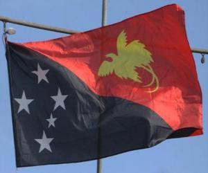 Flagge Papua-Neuguineas puzzle