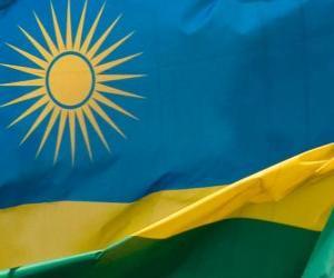 Flagge Ruanda puzzle