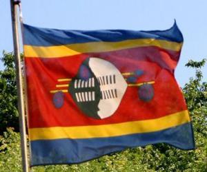 Flagge Swasilands puzzle