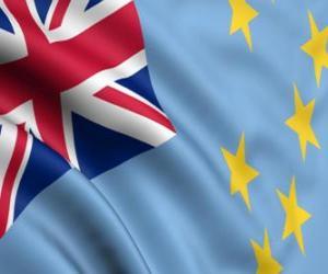 Flagge Tuvalus puzzle
