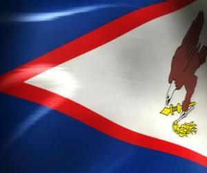 Flagge von Amerikanisch-Samoa puzzle