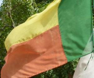 Flagge von Benin puzzle