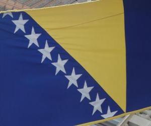 Flagge von Bosnien und Herzegowina puzzle