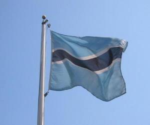 Flagge von Botsuana puzzle