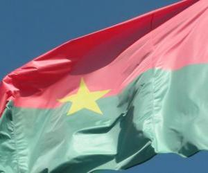 Flagge von Burkina Fasso puzzle