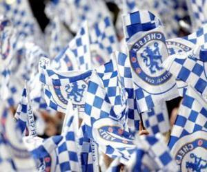 Flagge von Chelsea F.C. puzzle