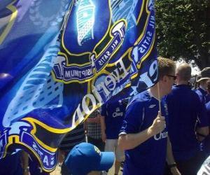 Flagge von Everton F.C. puzzle