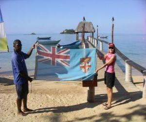 Flagge von Fidschi puzzle