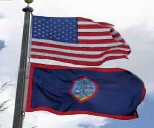 Flagge von Guam puzzle