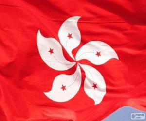 Flagge von Hong Kong puzzle
