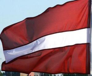 Flagge von Lettland puzzle