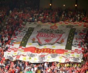 Flagge von Liverpool F.C. puzzle
