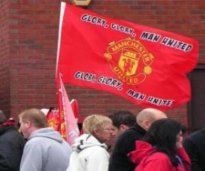 Flagge von Manchester United F.C. puzzle