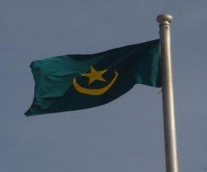 Flagge von Mauretanien puzzle