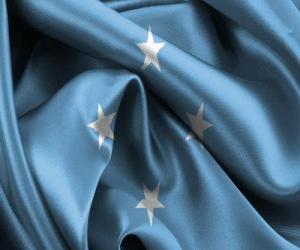 Flagge von Mikronesien puzzle