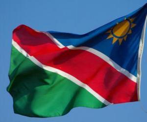 Flagge von Namibia puzzle