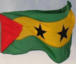 Flagge von São Tomé und Príncipe puzzle