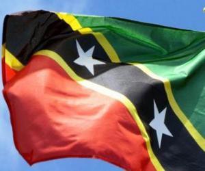 Flagge von Saint Kitts und Nevis puzzle