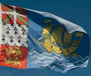 Flagge von Saint-Pierre und Miquelon puzzle
