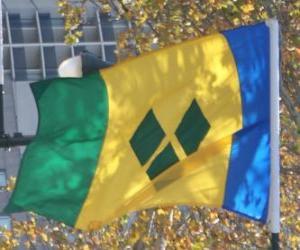 Flagge von Saint Vincent und die Grenadinen puzzle