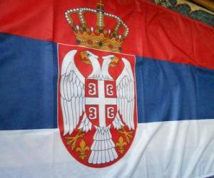Flagge von Serbien puzzle
