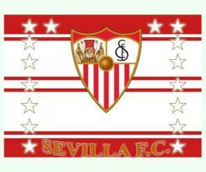 Flagge von Sevilla FC puzzle