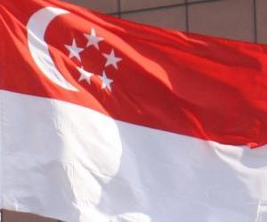 Flagge von Singapur puzzle