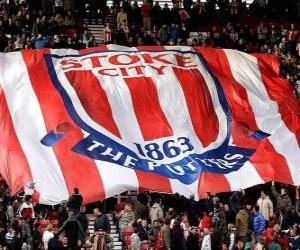 Flagge von Stoke City F.C. puzzle