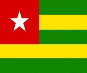 Flagge von Togo puzzle