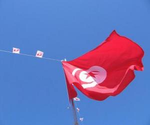 Flagge von Tunesien puzzle