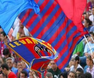 Flagge von UD Levante puzzle
