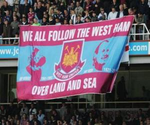Flagge von West Ham United FC puzzle