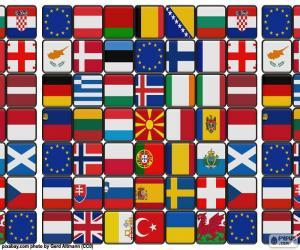 Flaggen Europas puzzle