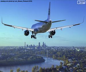 Flugzeuge, die Ankunft am Zielort puzzle