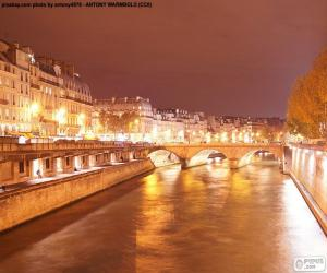 Fluss in der Nacht, Paris puzzle