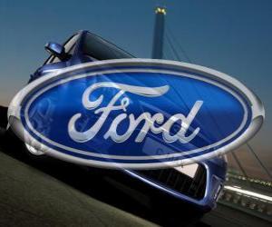 Ford Logo. Automarke Vereinigte Staaten puzzle