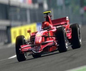 Formel-1-Rennwagen puzzle