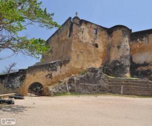 Fort Jesus, portugiesische Festung befindet sich in Mombasa (Kenia) puzzle