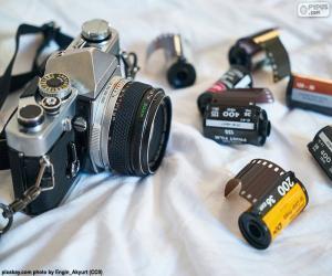 Fotokamera-reflex puzzle